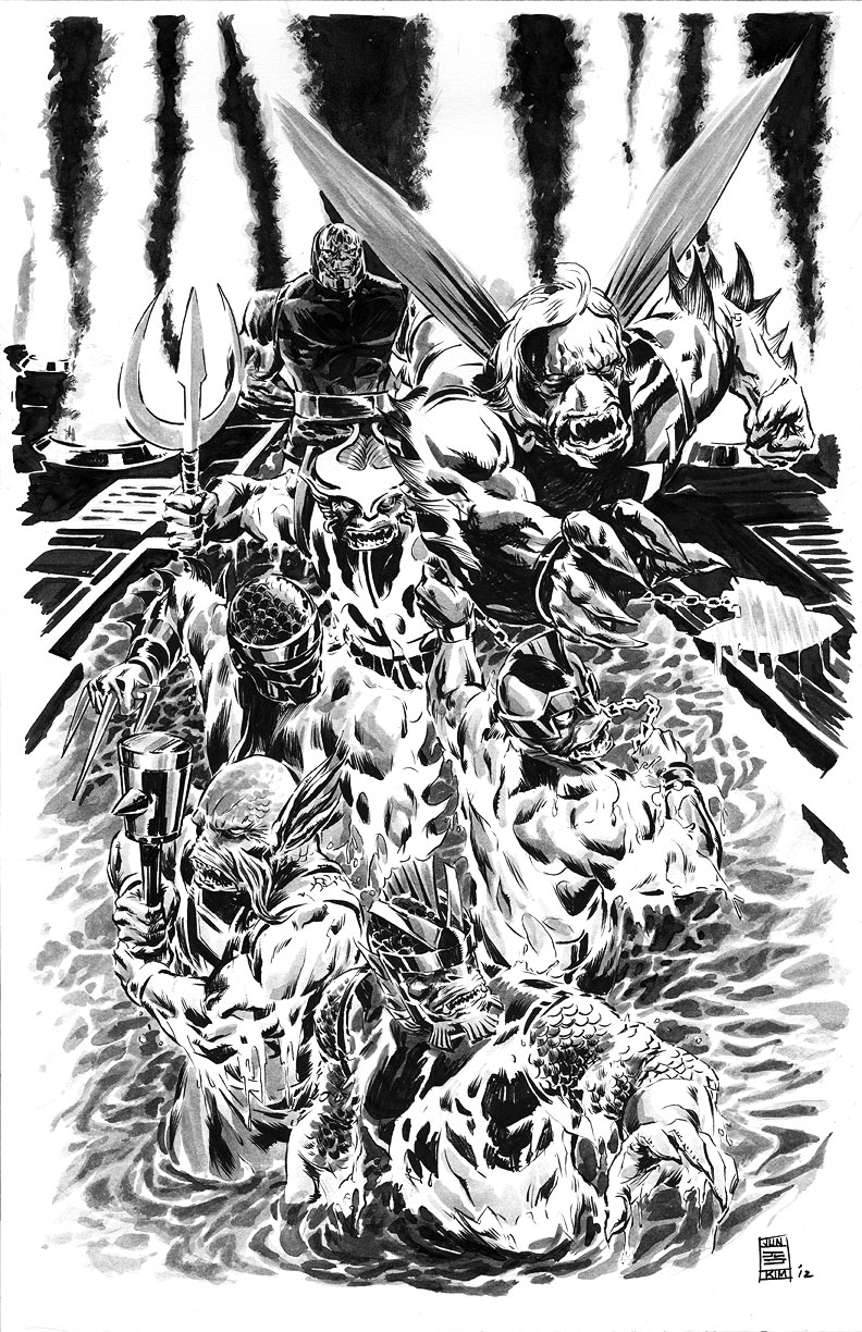Deep Six - Another Group of Apokolips Creations by Jack Kirby for DC Comics - Art by Jun Bob Kim