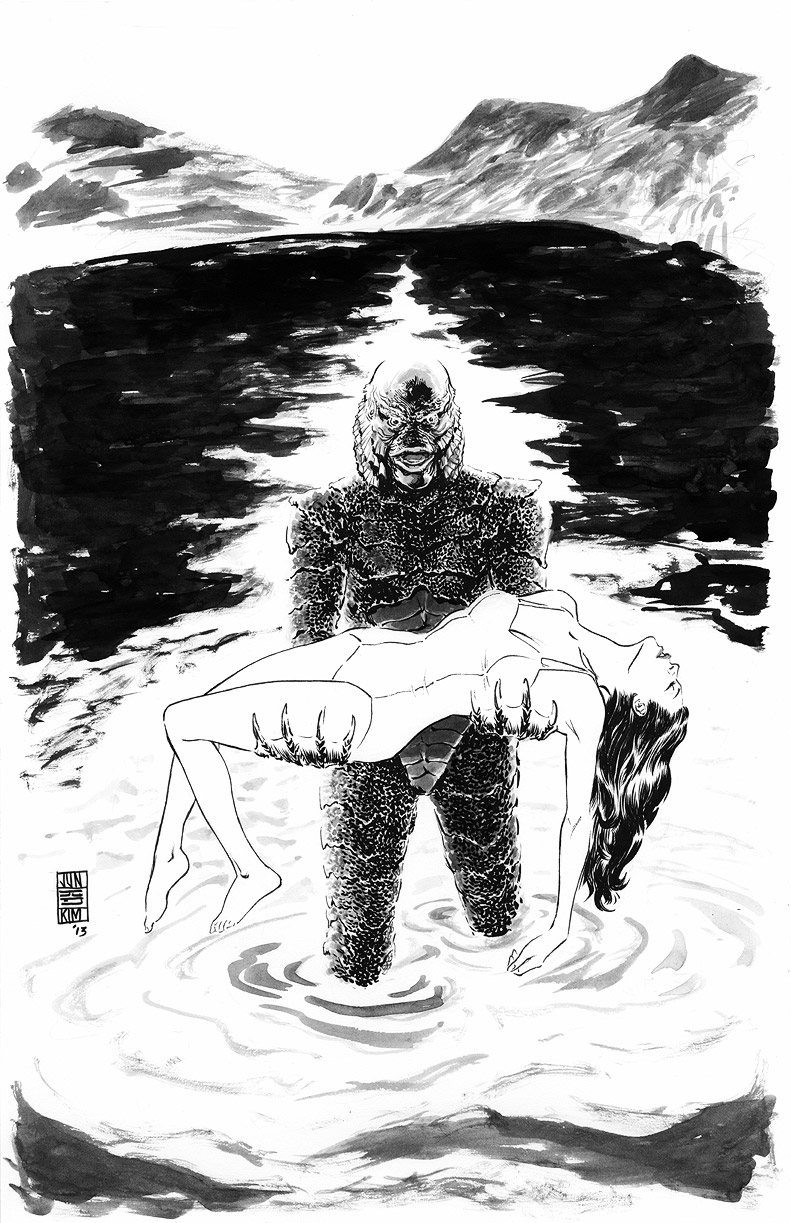 Creature From the Black Lagoon Commission by Jun Bob  Kim