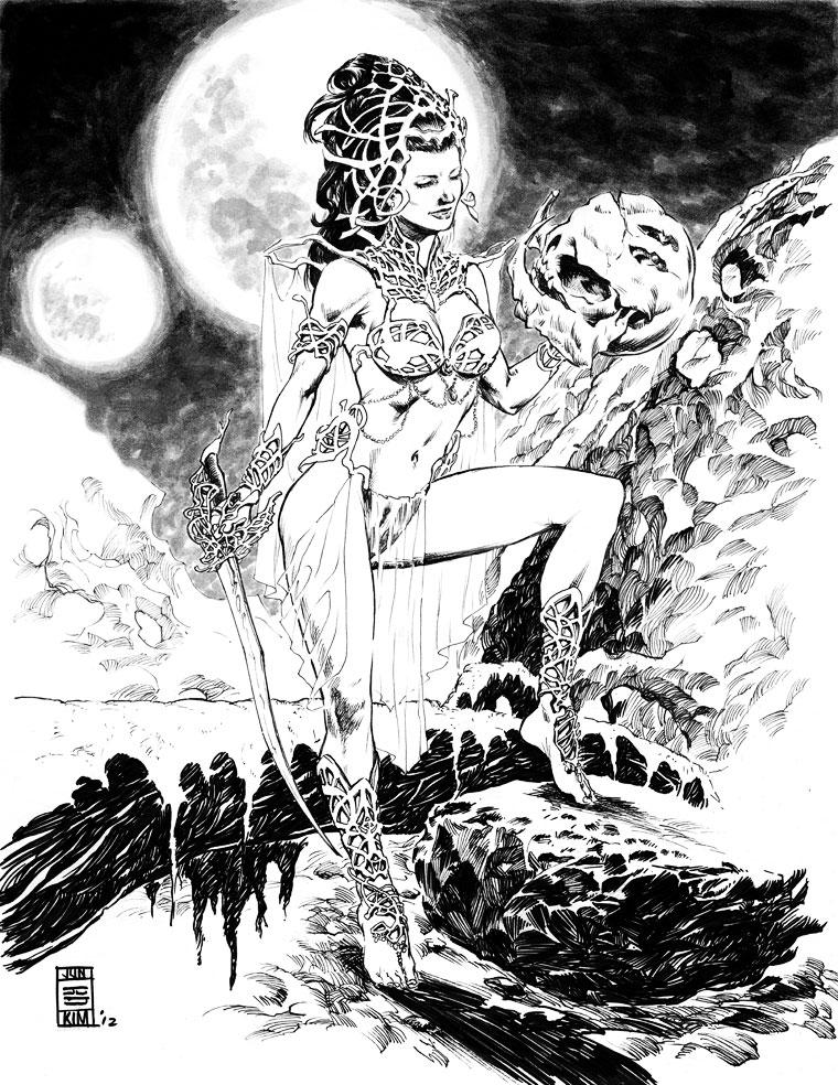 Dejah Thoris - Princess of Mars- Painting by Jun Bob Kim