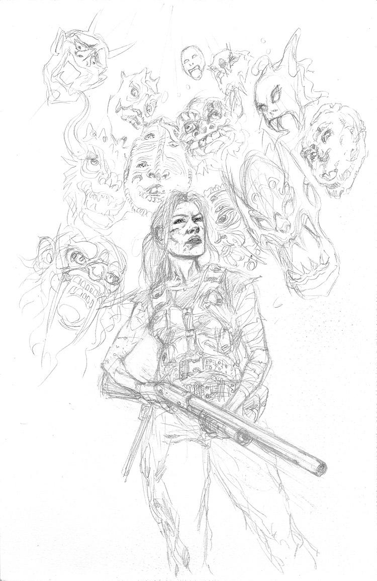 Barry Nugent's Forgotten Warriors Pencils by Jun Bob  Kim