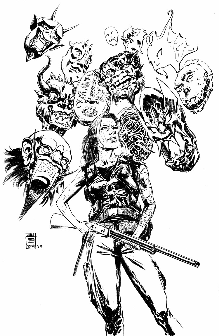 Barry Nugent's Forgotten Warriors Book Inked Cover by Jun Bob Kim