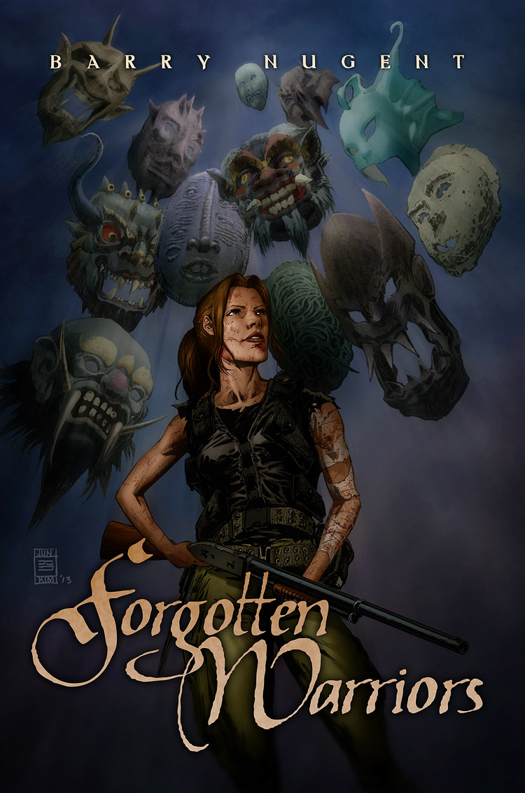 Barry Nugent's Forgotten Warriors Finished Cover by Jun Bob Kim