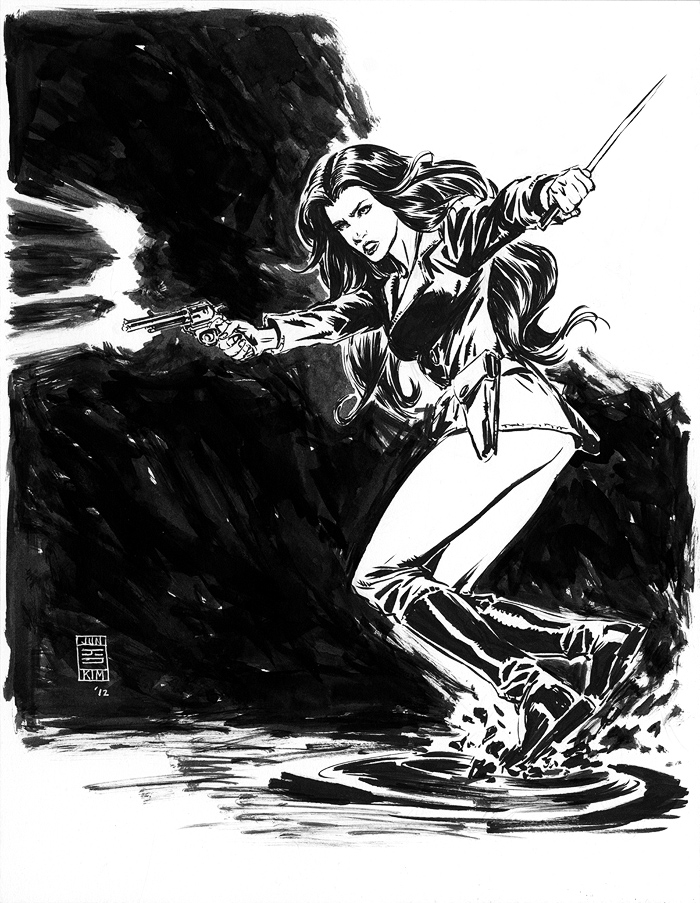 Athena Voltaire Sketch by Jun Bob Kim