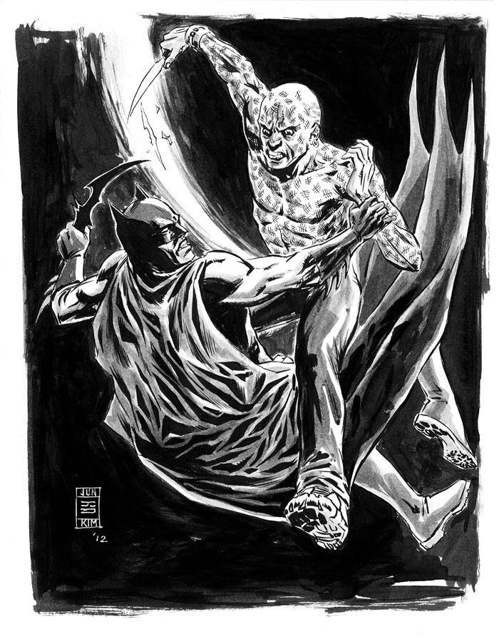 Batman vs. Mr. Zsasz - a sketch by Jun Bob Kim