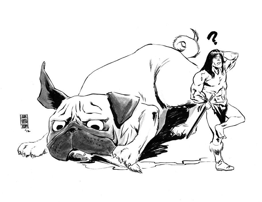 Mike Norton's Battlepug sketch by Jun Bob Kim