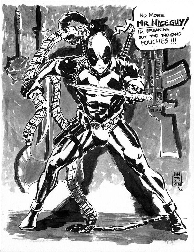 Deadpool 'No More Mr. Nice Guy!' - April Fools Sketch by Jun Bob Kim
