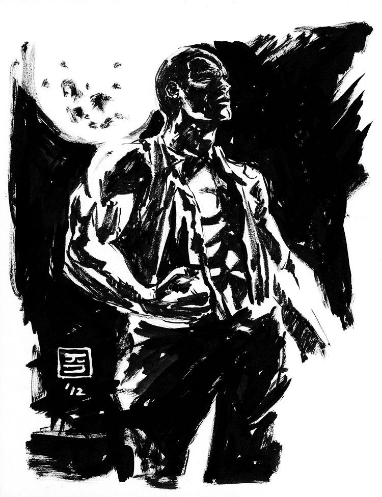 Doc Savage - a Quick Sketch by Jun Bob Kim