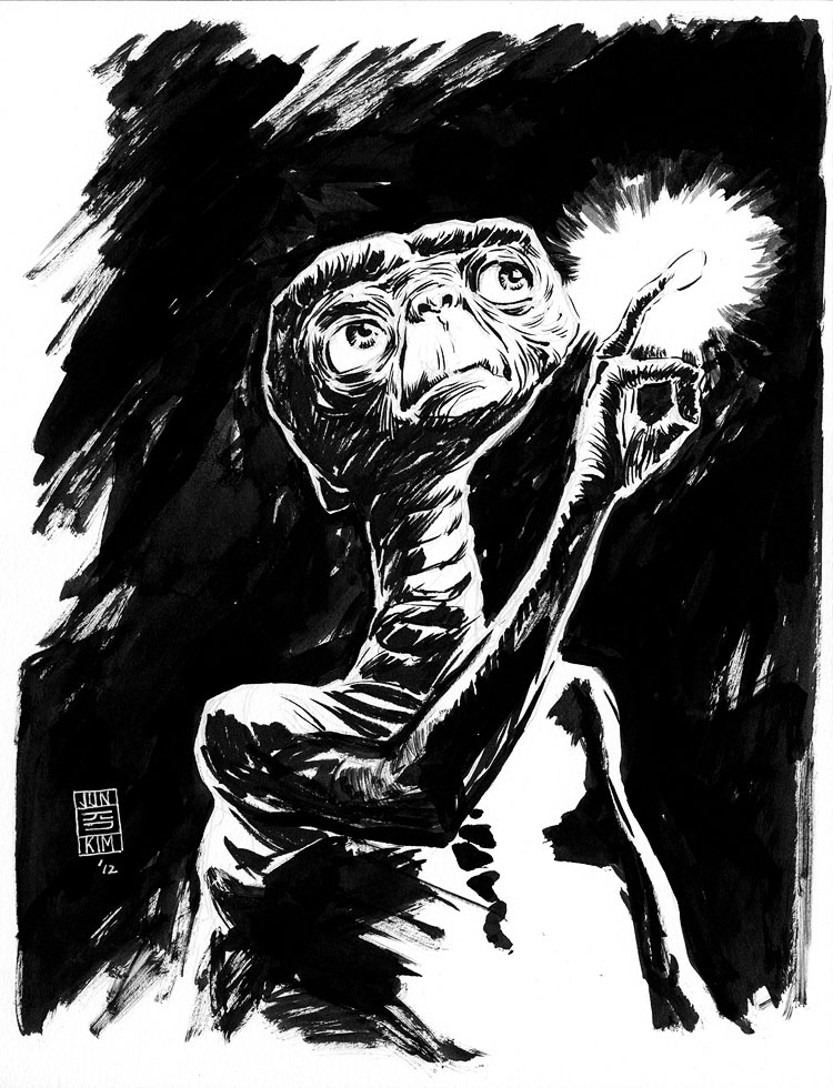 E.T. Phone Home - a Sci-Fi Sketch by Jun Bob Kim