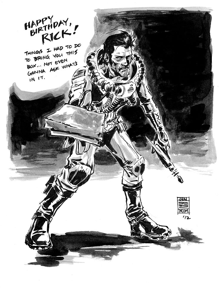 Fear Agent sketch for Rick Remender by Jun Bob Kim