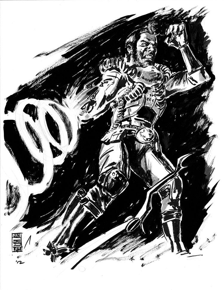 Rick Remender's & Tony Moore's Fear Agent - a sketch by Jun Bob Kim