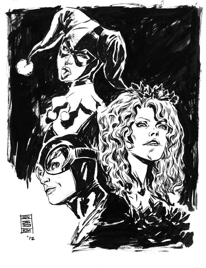 Gotham City Sirens - a sketch by Jun Bob Kim
