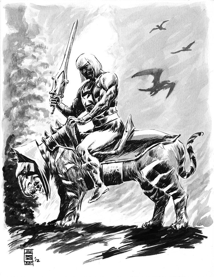 "He-Man the ""Death Dealer"" drawn with Frazetta inspiration by Jun Bob Kim"