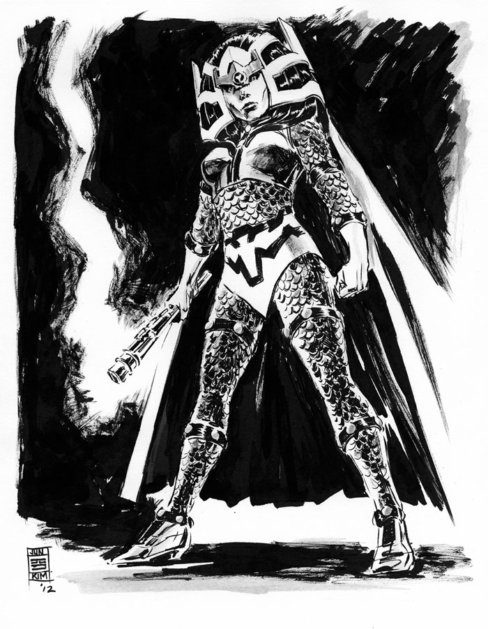 Big Barda - Another one of Jack Kirby's DC character creation. Sketch by Jun Bob Kim