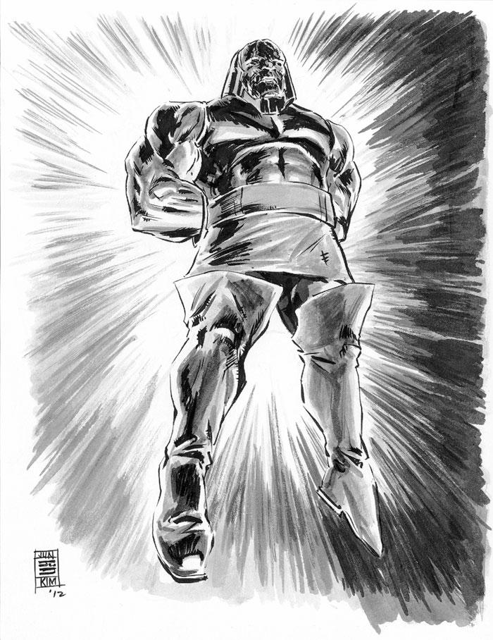 Darkseid – Jack Kirby's DC character creation. A Sketch by Jun Bob Kim