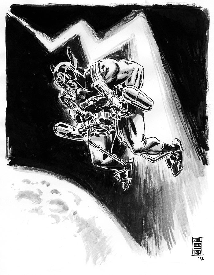 Orion - Another one of Jack Kirby's DC character creation. A Sketch by Jun Bob Kim