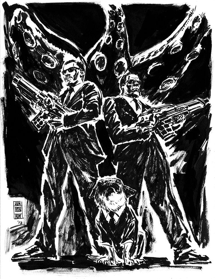 MIB Men In Black - a Sci-Fi Sketch by Jun Bob Kim