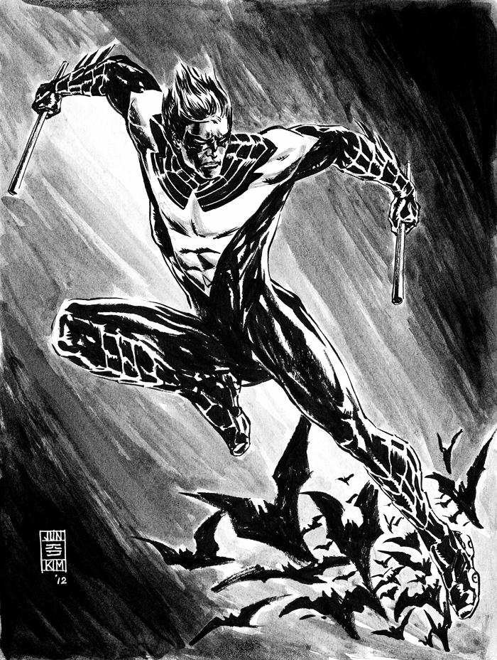 New 52 Nightwing Sketch by Jun Bob Kim.