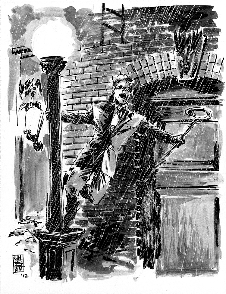 Riddler 'Singing in the Rain' - April Fools Sketch by Jun Bob Kim