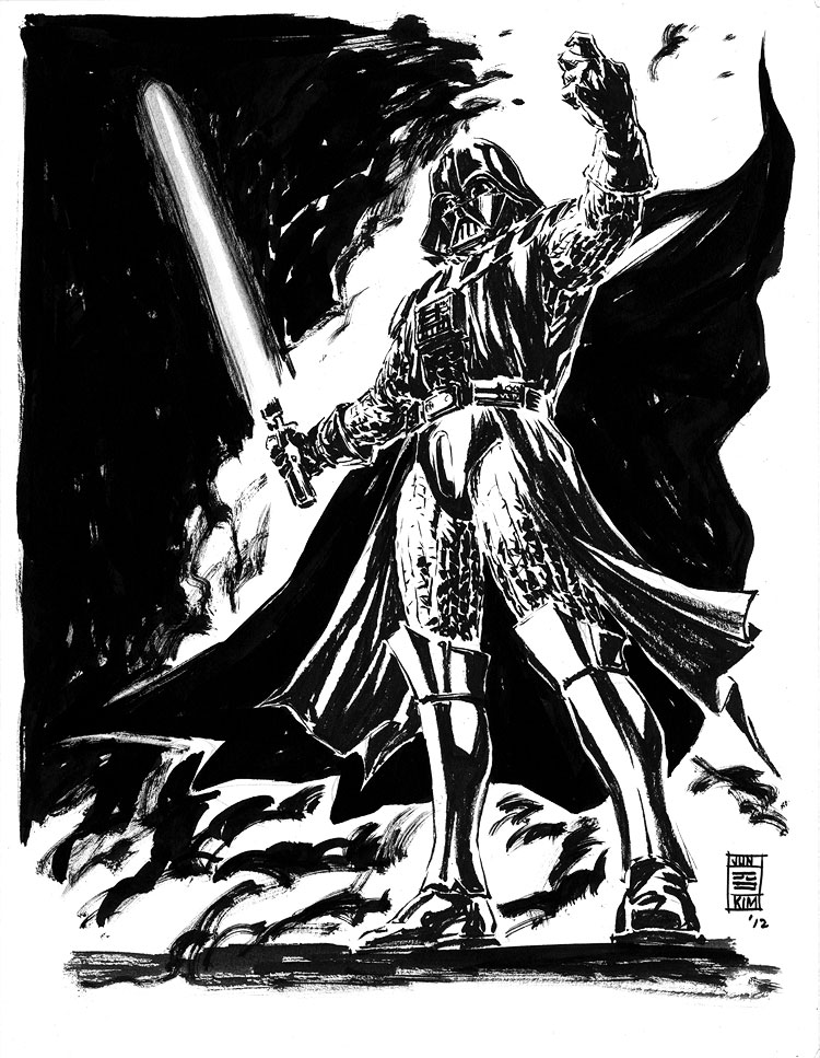 Star Wars - Darth Vader, a Sci-Fi Sketch by Jun Bob Kim