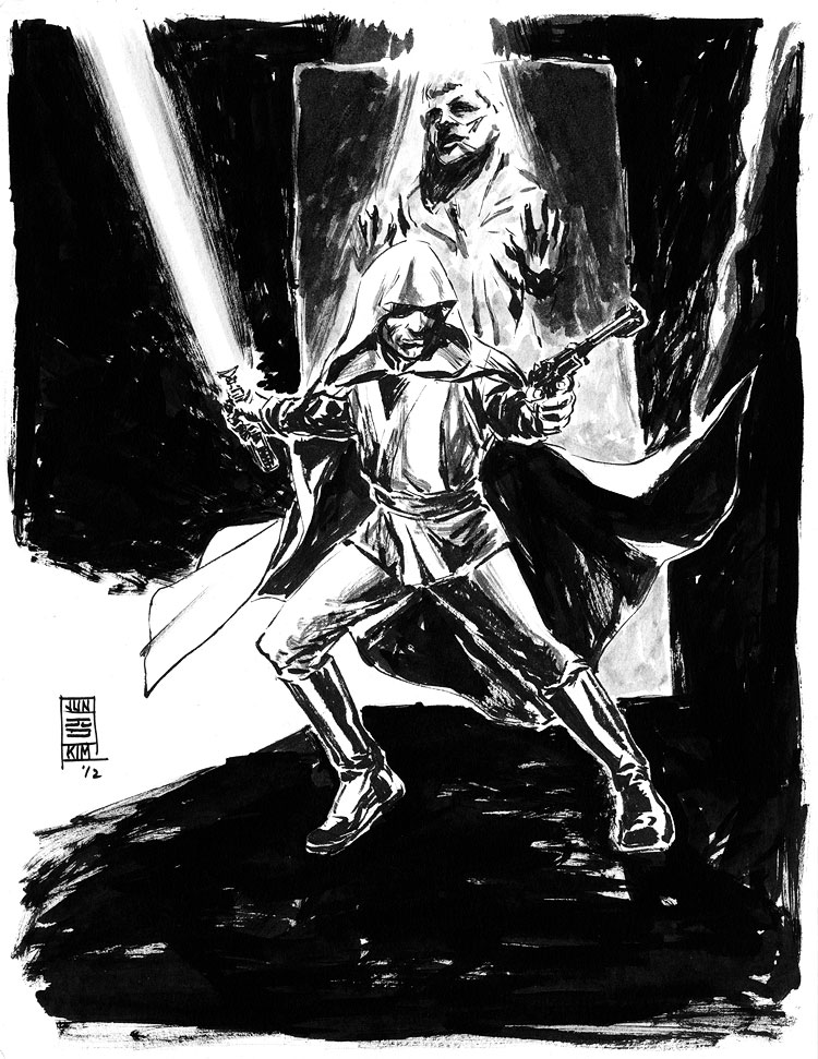Star Wars  - Luke Skywalker from Return of the Jedi - a Sci-Fi Sketch by Jun Bob Kim