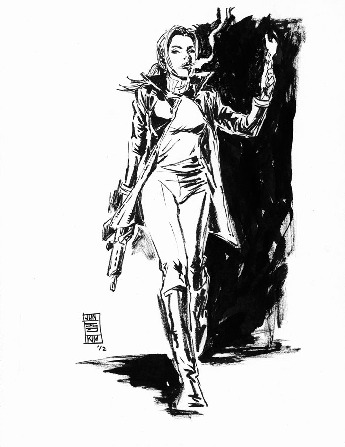 Tara Chace of Greg Rucka's Queen & Country Art by Jun Bob Kim