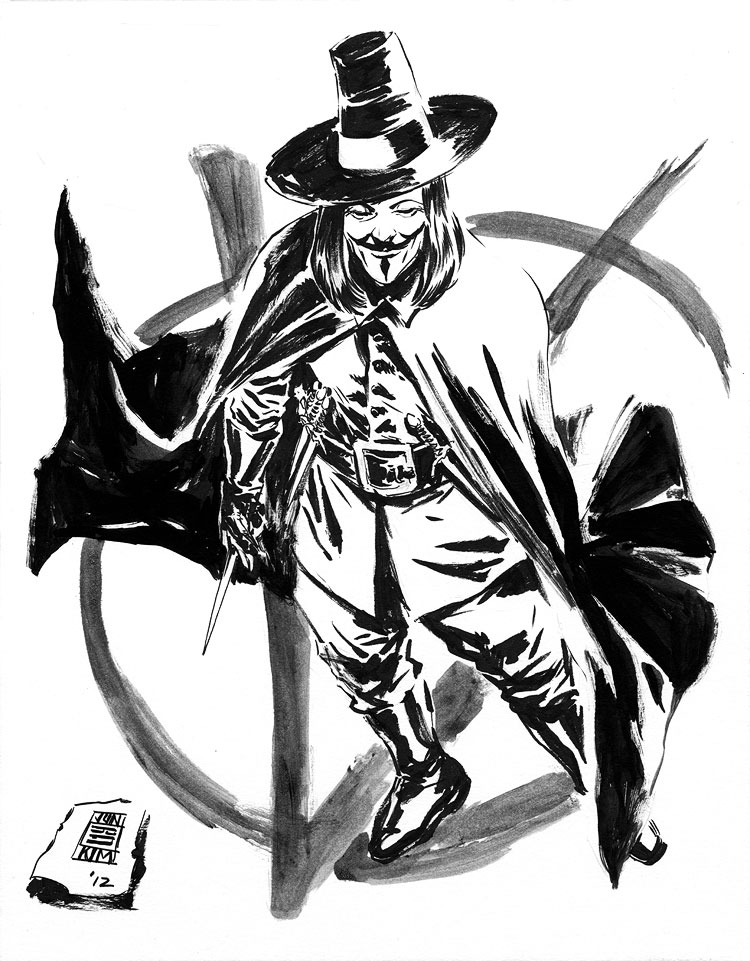 V for Vendetta - a Sketch by Jun Bob Kim