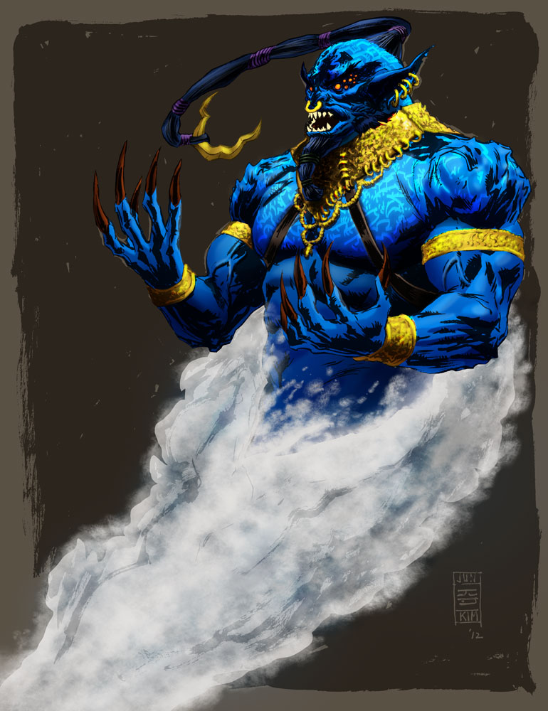 DJINN - digitally-colored art by Jun Bob Kim.