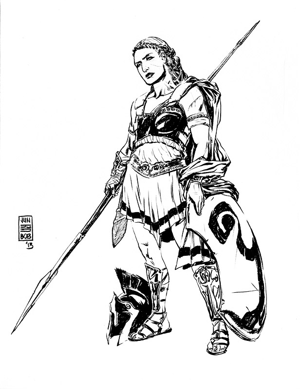 An Amazon Warrior Sketch by Jun Bob Kim