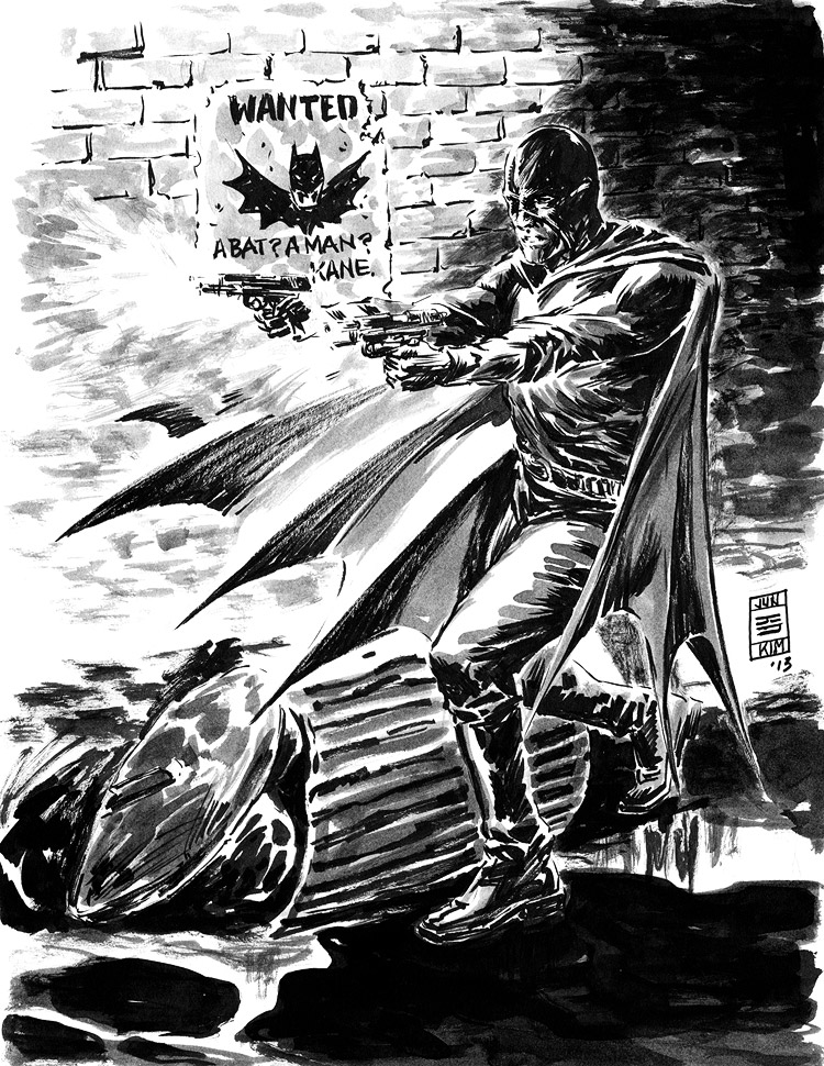 The Black Bat - Pulp Challenge Sketch by Jun Bob Kim
