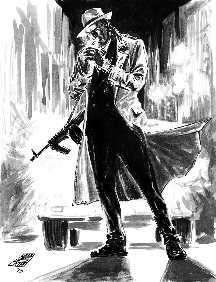 Dick Tracy - Pulp Sketch Challenge by Jun Bob Kim