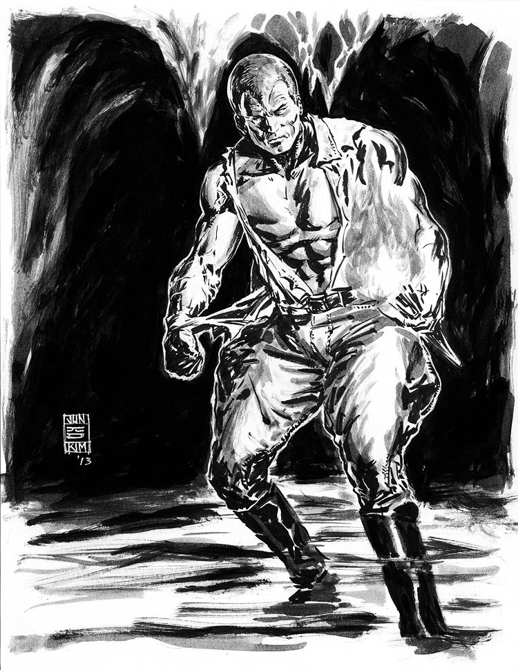 Doc Savage - Pulp Challenge Sketch by Jun Bob Kim