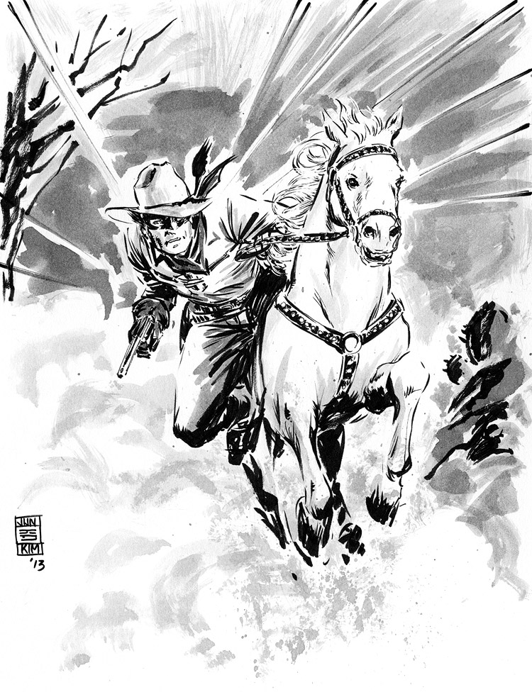 Lone Ranger - Pulp Sketch Challenge by Jun Bob Kim