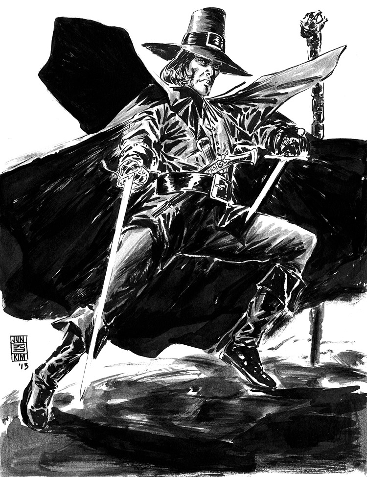 Solomon Kane - Pulp Sketch Challenge by Jun Bob Kim