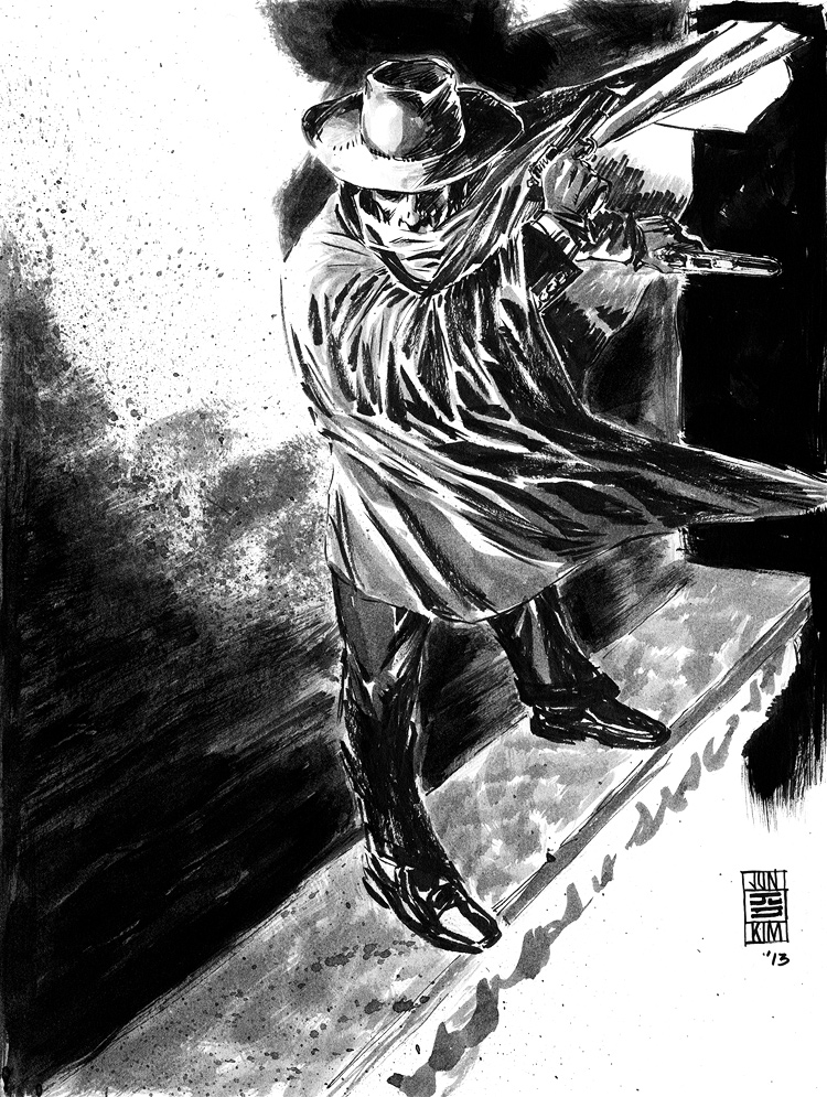 The Shadow - Pulp Challenge Sketch by Jun Bob Kim