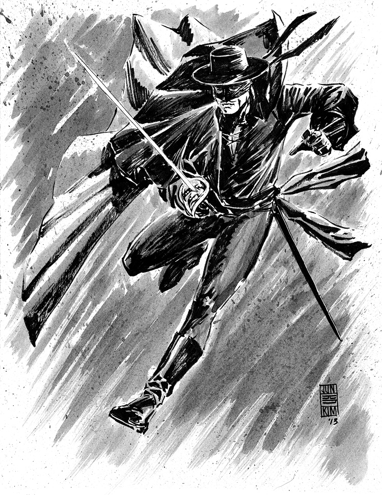 Zorro - Pulp Challenge Sketch by Jun Bob Kim