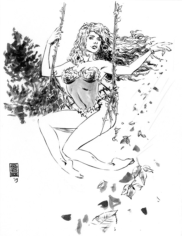 Poison Ivy Sketch by Jun Bob Kim