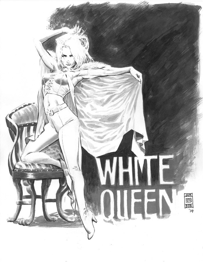 Emma Frost White Queen Sketch by Jun Bob Kim
